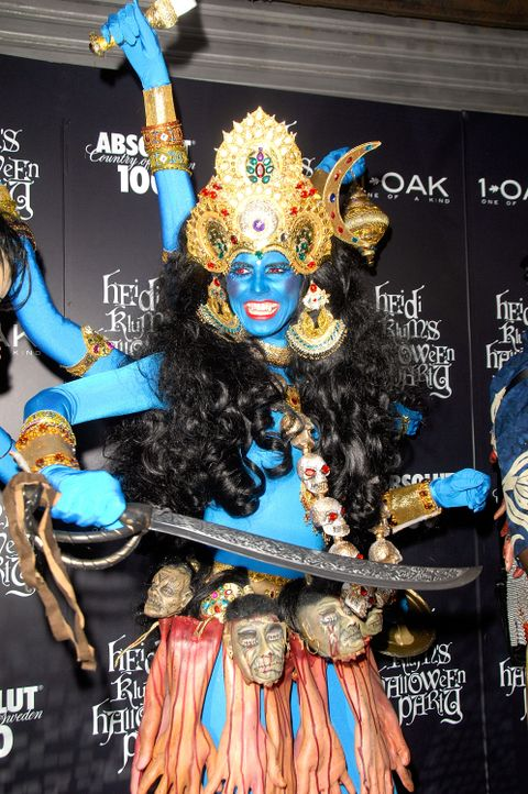 Heidi Klum: Halloween als Hindu-Göttin - Bildquelle: AFP