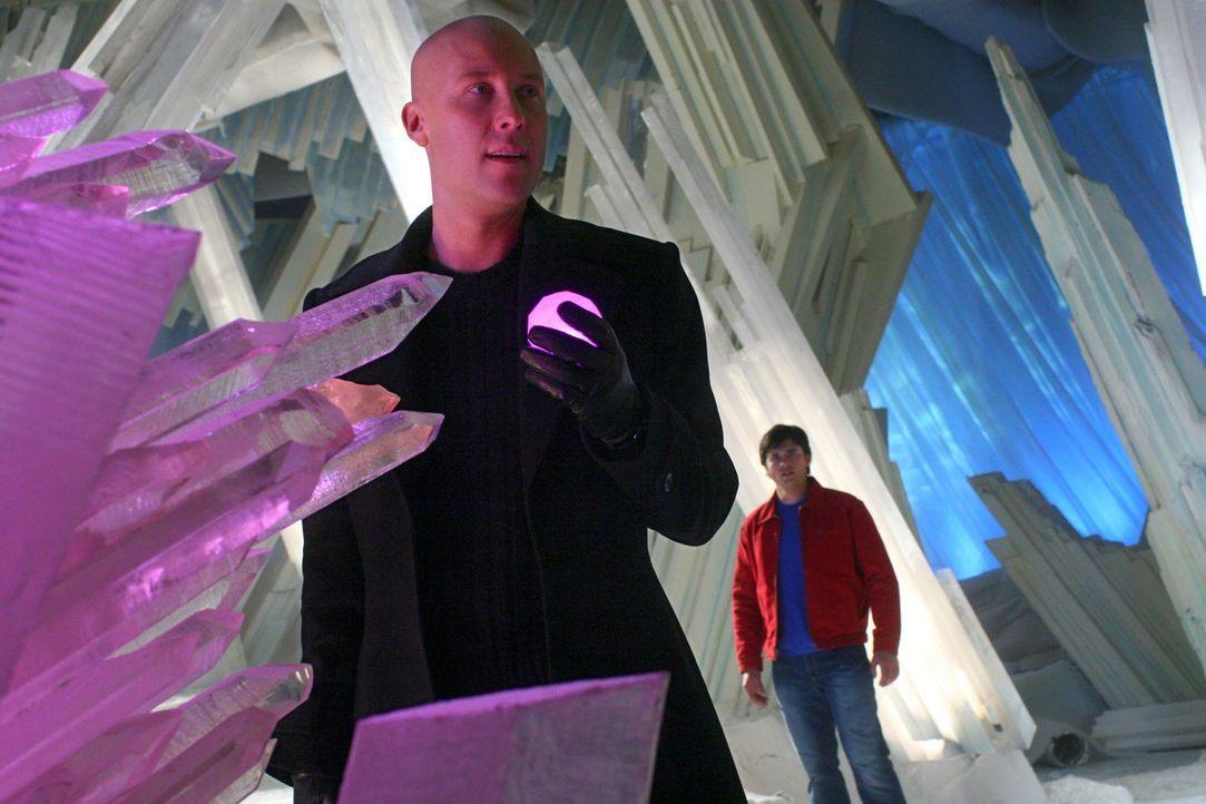 Lange waren sie auf der Suche nach dem übermächtigen Reisenden, dabei war er die ganze Zeit vor Lex' (Michael Rosenbaum, vorne) und Clarks (Tom Well... - Bildquelle: Warner Bros.