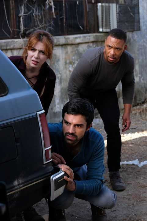 (v.l.n.r.) Sonya (Elena Satine); Marcos (Sean Teale); Trader (D James Jones) - Bildquelle: Eliza Morse 2017 Fox and its related entities.  All rights reserved.  MARVEL TM &   2017 MARVEL/Eliza Morse