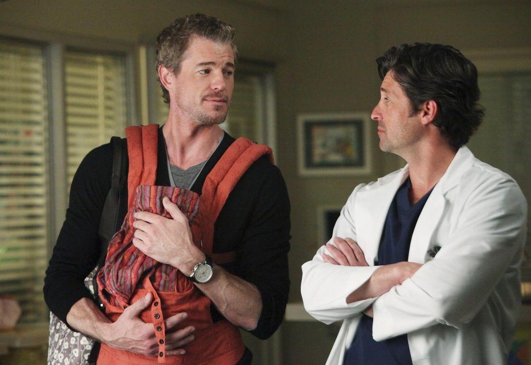 Haben einen harten Tag vor sich: Mark (Eric Dane, l.) und Derek (Patrick Dempsey, r.) ... - Bildquelle: ABC Studios