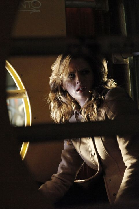 Eine ganze Mafiagang ist hinter ihnen her und in letzter Sekunde kann sich Kate Beckett (Stana Katic) in einen Keller flüchten ... - Bildquelle: 2012 American Broadcasting Companies, Inc. All rights reserved.