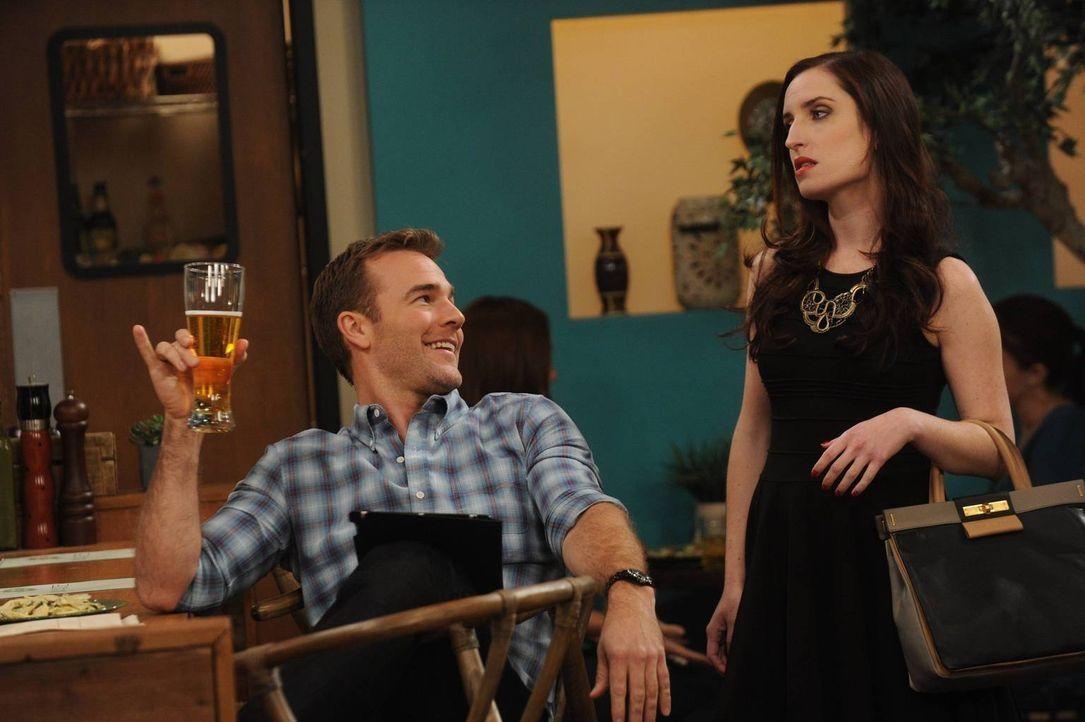 Um seine Ziele zu erreichen, manipuliert Will (James Van Der Beek, l.) nicht nur Kate (Zoe Lister Jones) ... - Bildquelle: 2013 CBS Broadcasting, Inc. All Rights Reserved.