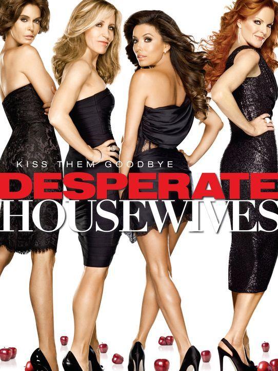 (8. Staffel) - Der Abschied naht: Lynette (Felicity Huffman, 2.v.l.), Bree (Marcia Cross, r.), Gabrielle (Eva Longoria, 2.v.r.) und Susan (Teri Hatc... - Bildquelle: ABC Studios