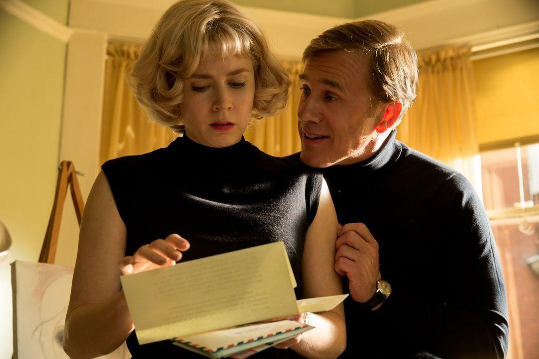 Margaret Keane (Amy Adams, l.); Walter Keane (Christoph Waltz, r.) - Bildquelle: 2014 The Weinstein Company. Alle Rechte vorbehalten