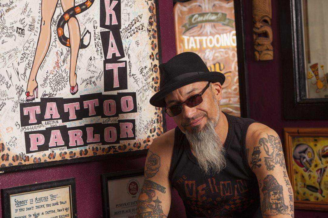 Ruckus (Bild) und Dirk treffen auf eine Mutter mit einem Tattoo, dass sie ihren Kindern nicht erklären kann ... - Bildquelle: Richard Knapp 2014 A+E Networks, LLC