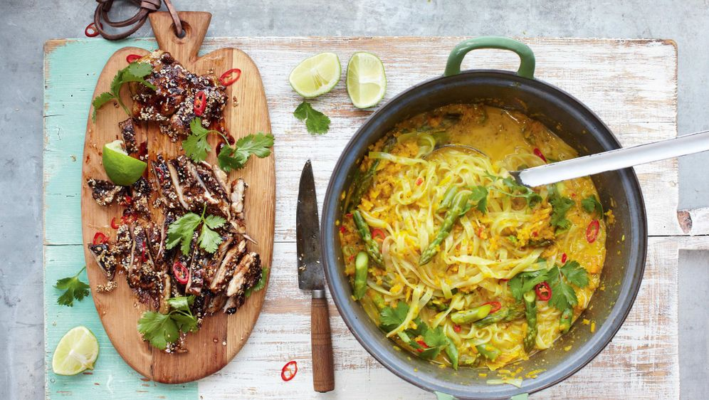 Thai-Hähnchen-Laksa: Das Rezept von Jamie Oliver