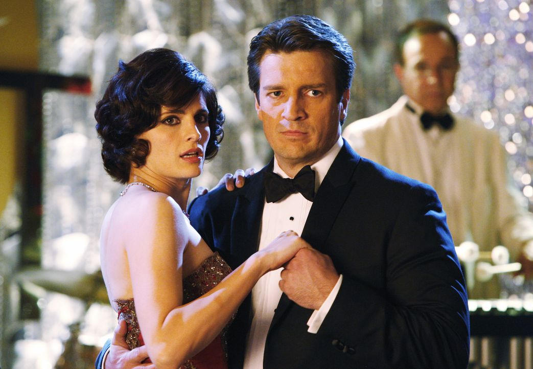 Kate (Stana Katic, l.) kann Richard Castles (Nathan Fillion, r.) plötzliche Aufregung nicht nachvollziehen ... - Bildquelle: ABC Studios