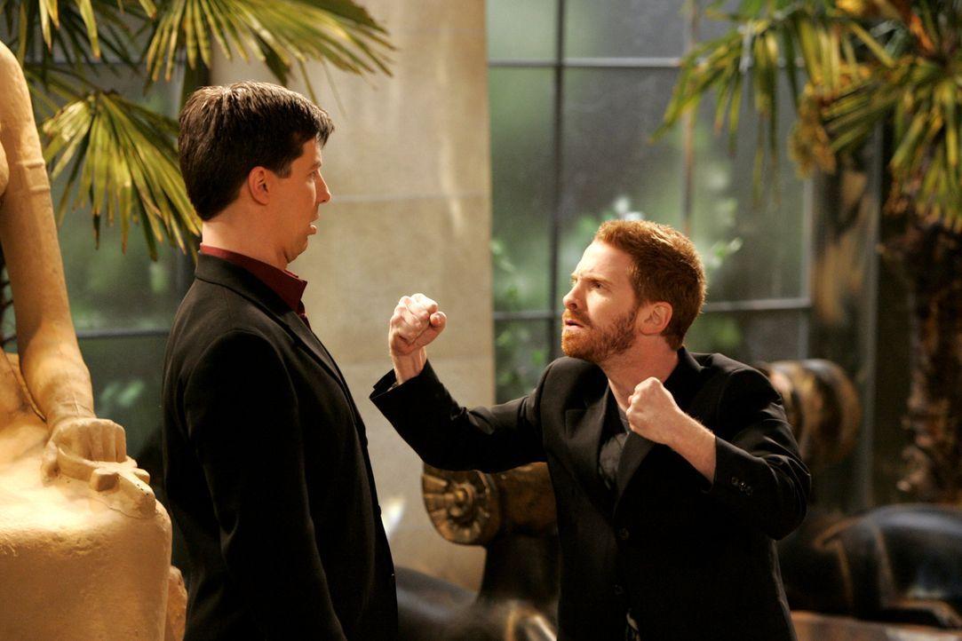 Jack (Sean Hayes, l.) ist mit Randall (Seth Green, r.) nicht ganz einverstanden ... - Bildquelle: Chris Haston NBC Productions