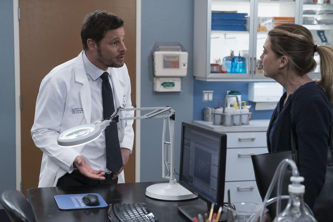 Dr. Alex Karev (Justin Chambers, l.); Dr. Meredith Grey (Ellen Pompeo, r.) - Bildquelle: Eric McCandless ABC Studios / Eric McCandless