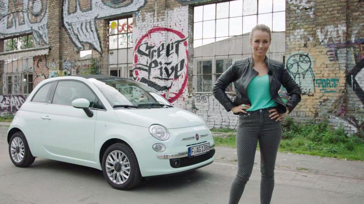 Moderatorin Annemarie Carpendale flitzt in dem neuen Fiat 500 durch die Republik und begegnet interessanten Persönlichkeiten ... - Bildquelle: Sixx