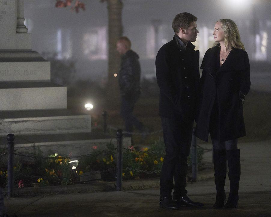 Klaus (Joseph Morgan, l.); Caroline (Candice King, r.) - Bildquelle: Warner Bros.