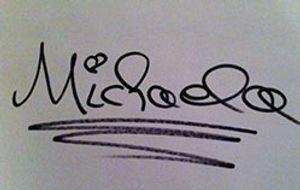 4 Blondes auf sixx - Michaela Unterschrift
