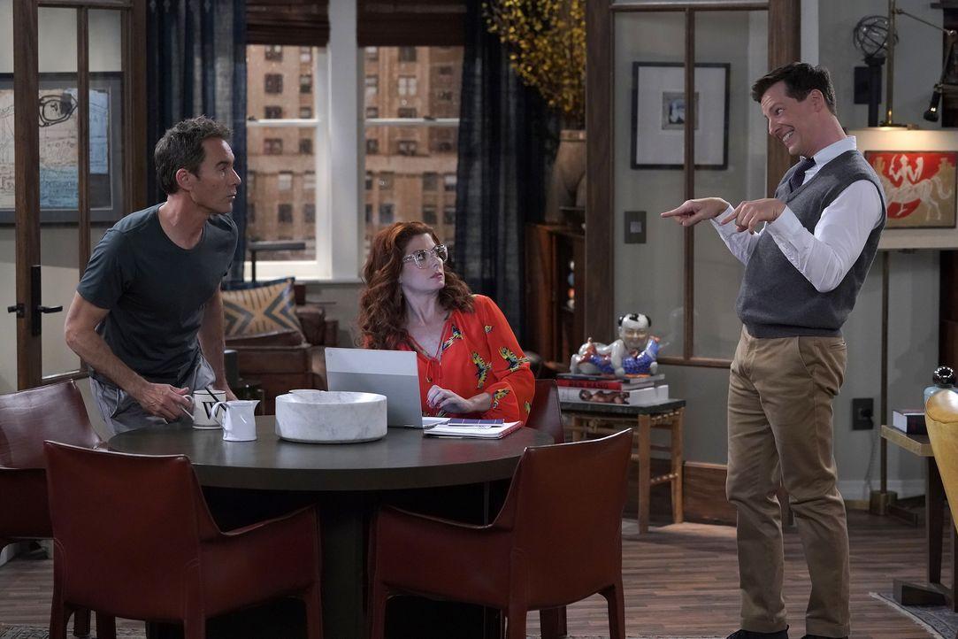 (v.l.n.r.) Will (Eric McCormack); Grace (Debra Messing); Jack (Sean Hayes) - Bildquelle: Chris Haston 2018 Universal Television LLC. ALL RIGHTS RESERVED./Chris Haston / Chris Haston