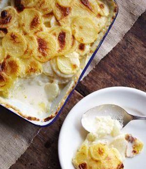 Kartoffelgratin mit Sahne