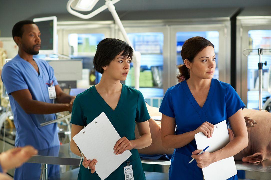Auf eine lebensrettende OP müssen sich Alex (Erica Durance, r.) und Maggie (Julia Taylor Ross, l.) ganz besonders vorbereiten ... - Bildquelle: 2012  Hope Zee One Inc.