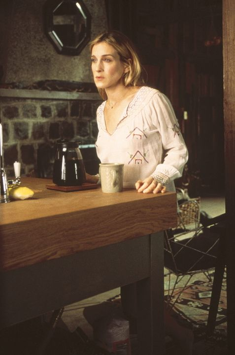 Auf Aidans Landhaus erhält Carrie (Sarah Jessica Parker) einen Anruf von Big, der am Boden zerstört ist. Aus Mitleid lädt Carrie ihn ein ... - Bildquelle: Paramount Pictures