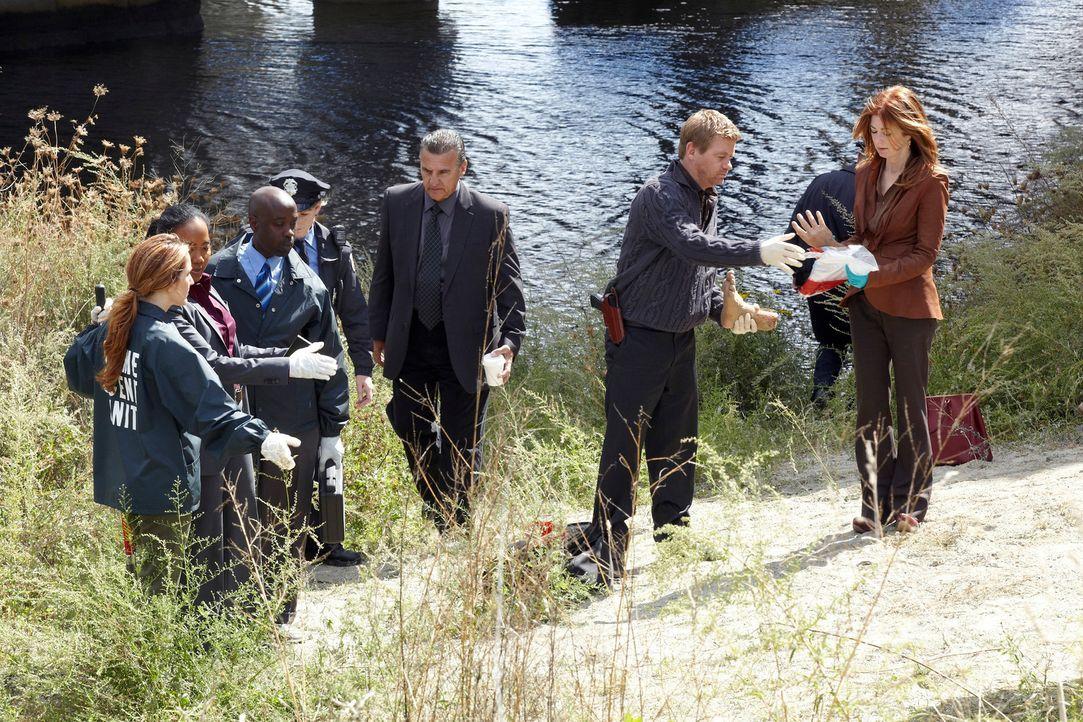 Müssen ein menschliches Puzzle aufdecken: Megan (Dana Delany, r.), Peter (Nicholas Bishop, 2.v.r.) und Samantha (Sonja Sohn, 2.v.l.) ... - Bildquelle: ABC Studios