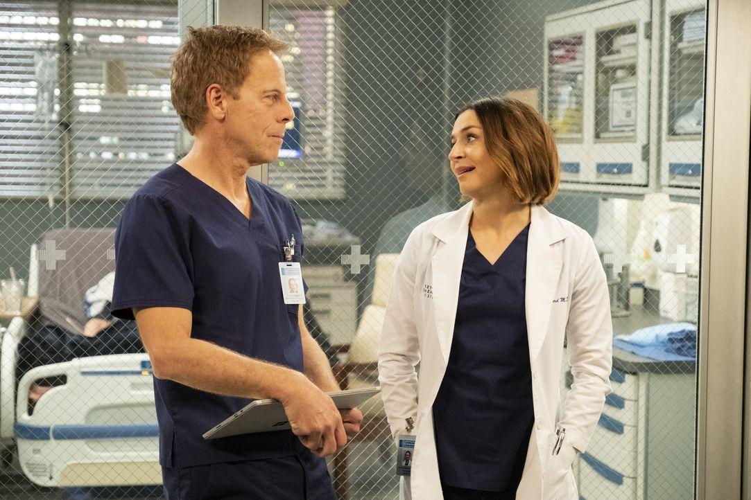 Dr. Thomas Koracick (Greg Germann, l.); Dr. Amelia Shepherd (Caterina Scorsone, r.) - Bildquelle: Jessica Brooks ABC Studios / Jessica Brooks