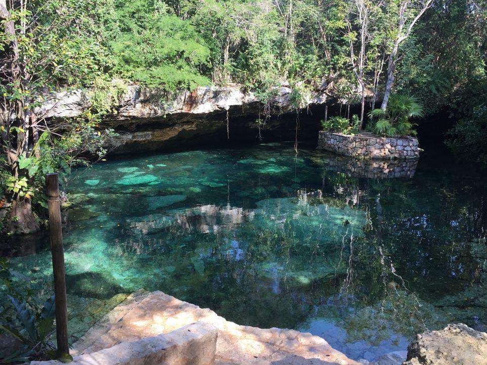 Fünf verschiedene Höhlen gibt es in Mexico's Ecopark Kantun-Chi. Da alle mit glasklarem Wasser gefüllt sind, bieten sie einen einzigartigen Bade-Hot... - Bildquelle: 2016, The Travel Channel, L.L.C. All Rights Reserved