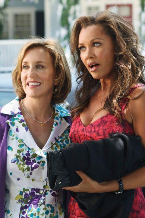 Während Paul Young zurück in die Wisteria Lane kommt, bekommt Lynette (Felicity Huffman, l.) Besuch von ihrer ehemaligen Highschool-Rivalin Renee Pe... - Bildquelle: ABC Studios