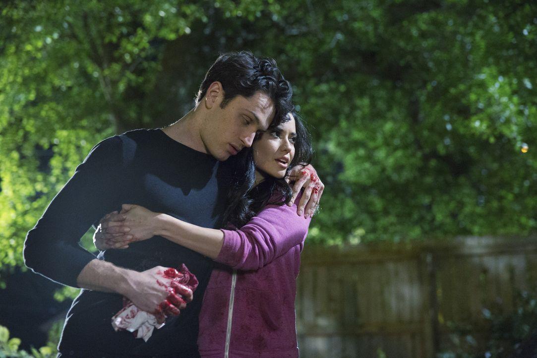 Um Ethan (Colin Woodell, l.) das Leben zu retten, braucht Valentina (Edy Ganem, r.) Hilfe, doch auf die Hilfe von ausgerechnet einer Person hätte Et... - Bildquelle: 2014 ABC Studios