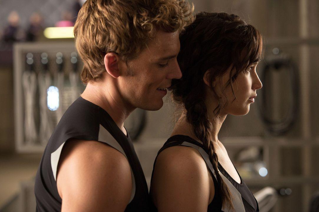 Finnick rückt Katniss auf die Pelle. - Bildquelle: Studiocanal