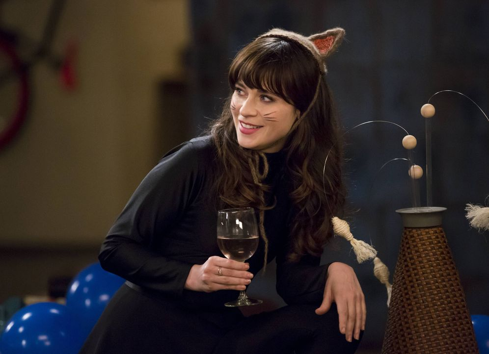 Obwohl Jess (Zooey Deschanel) mit der Trennung von Nick nicht wirklich klarkommt, spielt sie die Glückliche ... - Bildquelle: 2014 Twentieth Century Fox Film Corporation. All rights reserved.