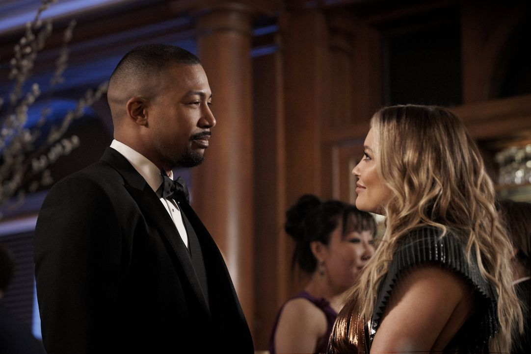 Zane Anders (Charles Michael Davis, l.); Kelsey Peters (Hilary Duff, r.) - Bildquelle: 2019 Viacom International Inc. All Rights Reserved
