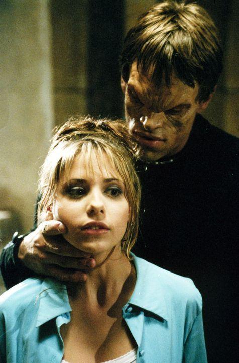 Kann sich Buffy (Sarah Michelle Gellar, r.) aus Lukes (Brian Thompson, l.) Fängen befreien? - Bildquelle: (1997) Twentieth Century Fox Film Corporation.