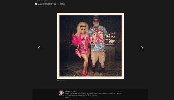 Fergie als Trash-Modell - Bildquelle: Twitter/Fergie
