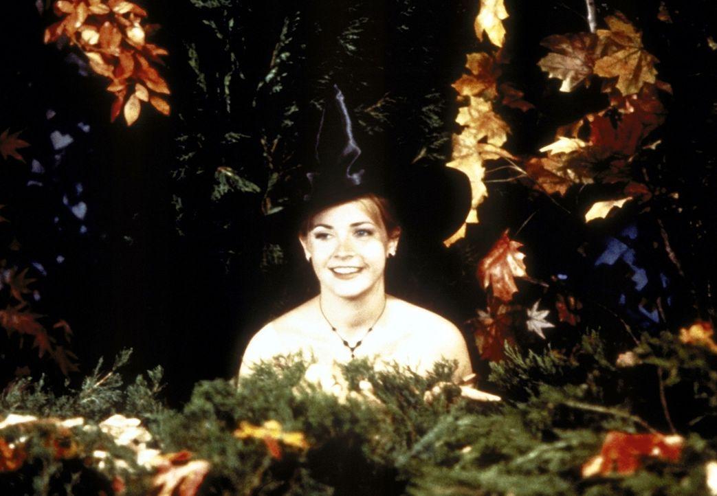 Die Kopie, die Sabrina (Melissa Joan Hart) von sich hergestellt hat, macht auf Harveys Halloween-Party einen Striptease. - Bildquelle: Paramount
