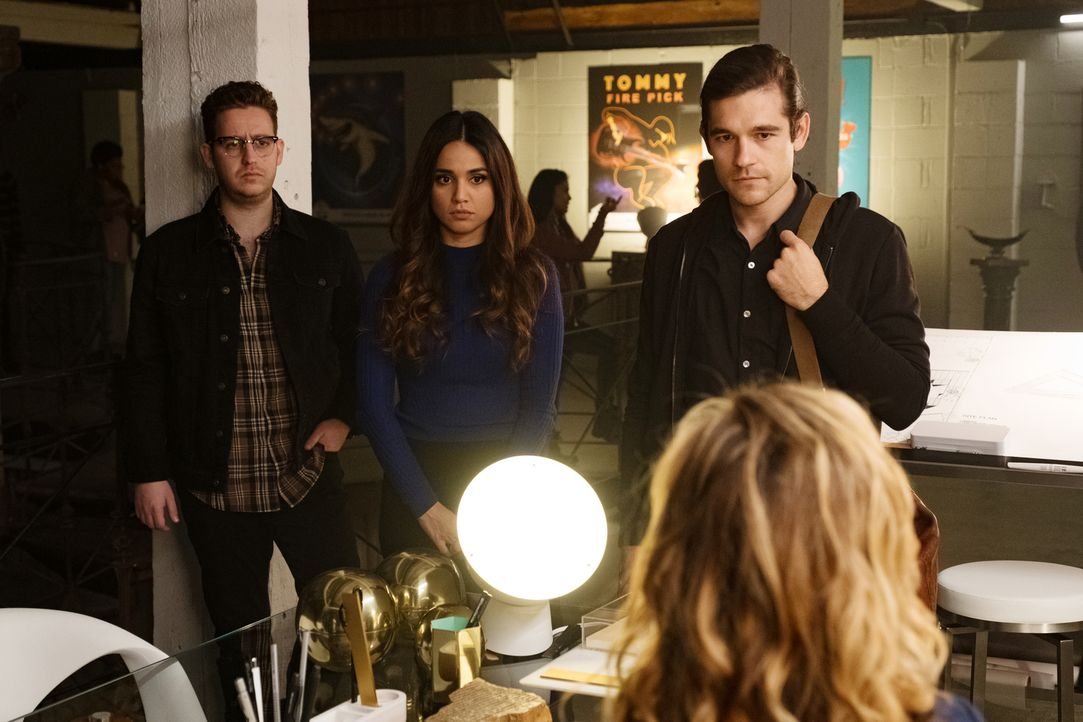 (v.l.n.r.) Josh (Trevor Einhorn); Margo (Summer Bishil); Quentin (Jason Ralph) - Bildquelle: Eric Milner 2018 Syfy Media Productions LLC. ALL RIGHTS RESERVED./Eric Milner