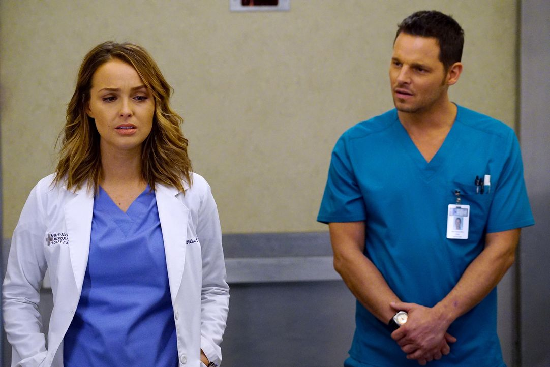 Werden sie noch die Chance auf eine gemeinsame Zukunft haben? Alex (Justin Chambers, r.) und Jo (Camilla Luddington, l.) ... - Bildquelle: Richard Cartwright 2016 American Broadcasting Companies, Inc. All rights reserved.