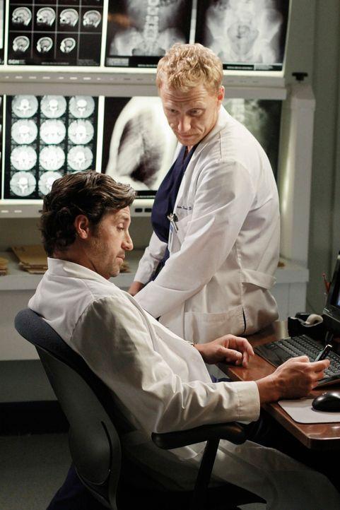 Ihre privaten Probleme reißen nicht ab: Owen (Kevin McKidd, r.) und Derek (Patrick Dempsey, l.) ... - Bildquelle: ABC Studios