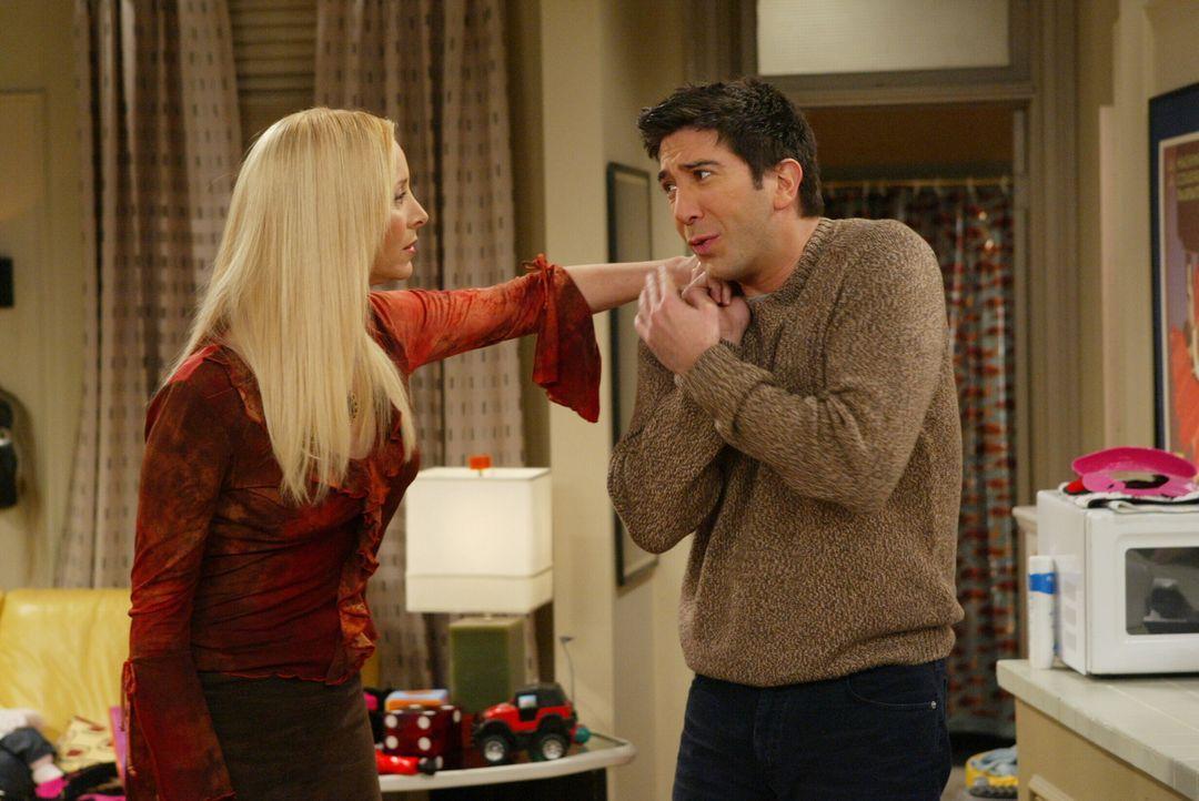 Wollen nicht wahrhaben, dass Chandler und Monica aufs Land ziehen: Phoebe (Lisa Kudrow, l.) und Ross (David Schwimmer, r.) ... - Bildquelle: 2003 Warner Brothers International Television