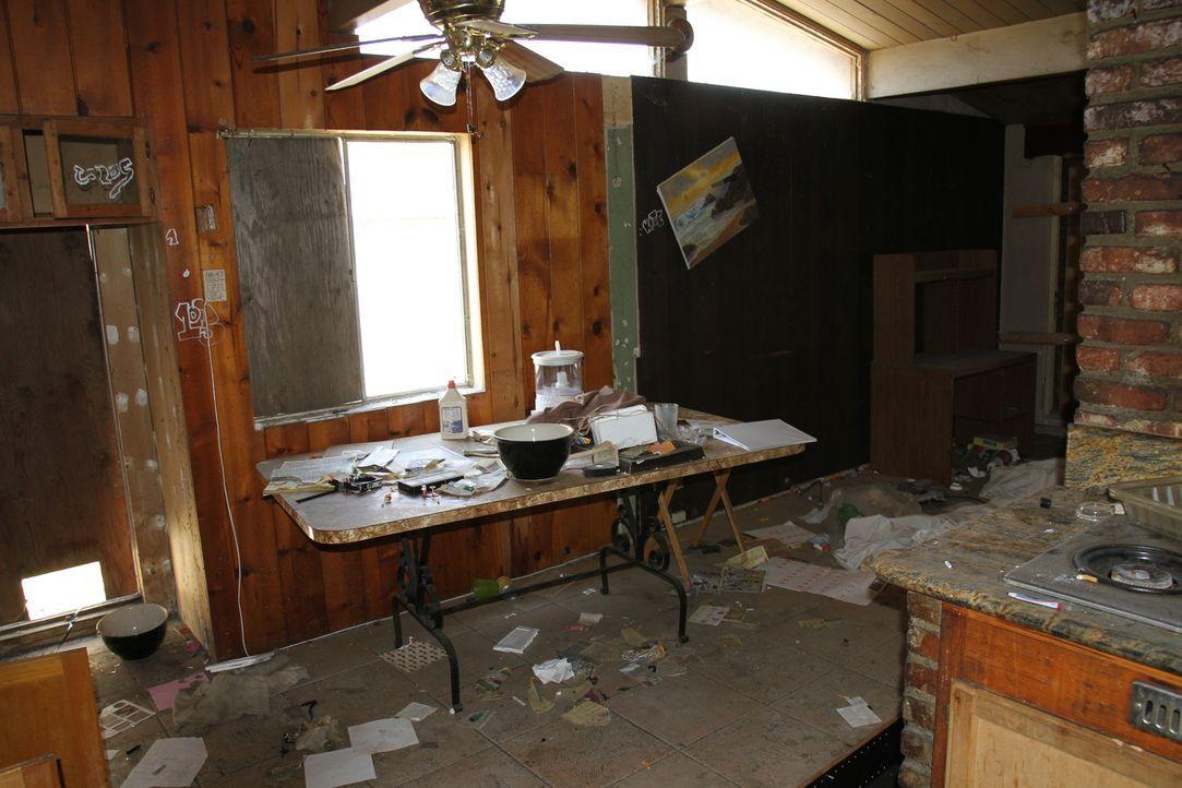 Auch wenn das Haus ein Schnäppchen war, der Zustand lässt Tarek und Christina die Hände über dem Kopf zusammenschlagen ... - Bildquelle: 2013,HGTV/Scripps Networks, LLC. All Rights Reserved