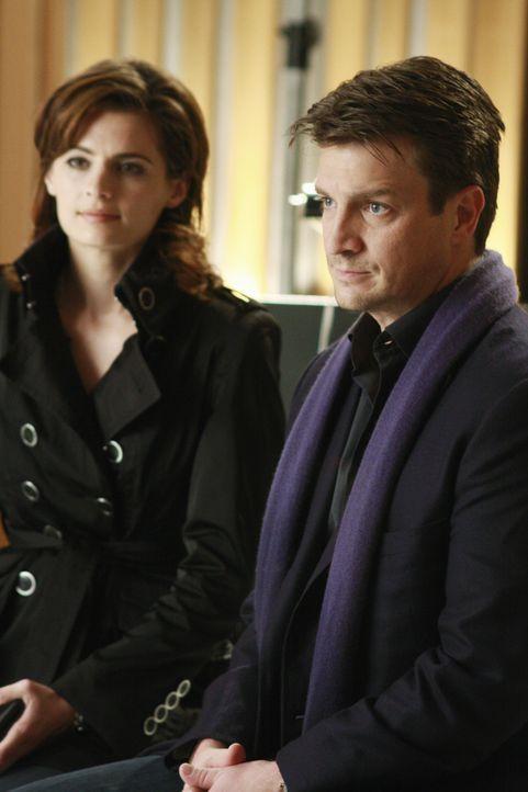 Richard Castle (Nathan Fillion, r.) und Kate Beckett (Stana Katic, l.) arbeiten an einem neuen aufregenden Fall. - Bildquelle: ABC Studios