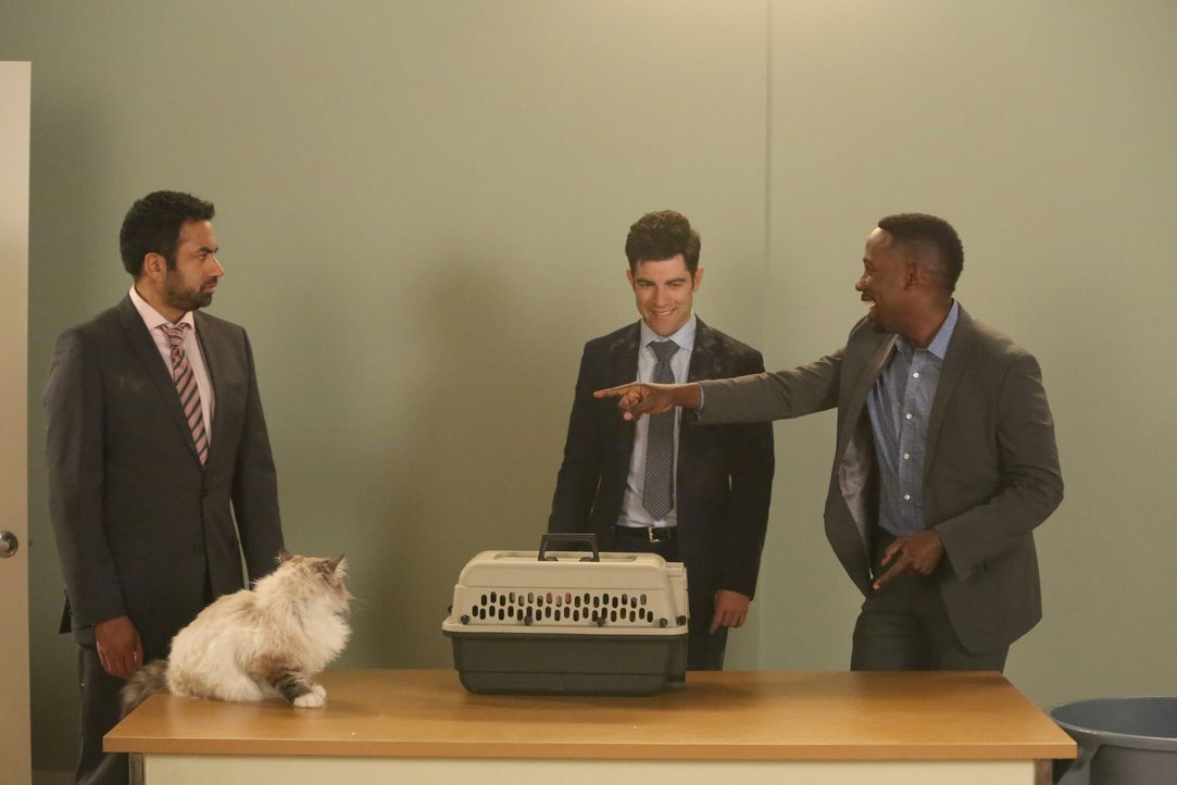 Schmidt (Max Greenfield, M.) will Winston (Lamorne Morris, r.) helfen, für seine Katze ein Vorsprechen zu ergattern, doch dann erkennen die beiden,... - Bildquelle: Patrick McElhenney 2016 Fox and its related entities. All rights reserved. / Patrick McElhenney