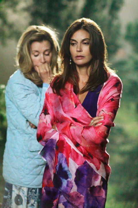 Die Leiche von Alejandro muss verschwinden, doch werden Lynette (Felicity Huffman, l.) und Susan (Teri Hatcher, r.) damit leben können? - Bildquelle: Touchstone Pictures