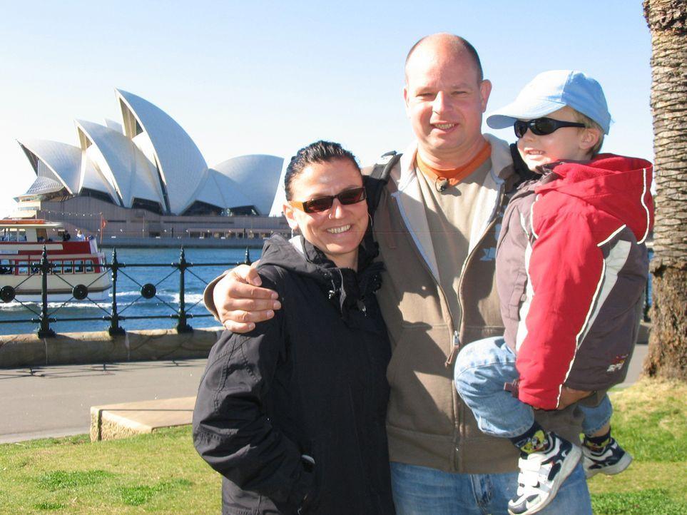 Für Mike (38), und Peggy (33) geht ein Traum in Erfüllung: Gemeinsam mit Sohn Theo (3) wandern sie im August nach Australien aus. In Leipzig fühl... - Bildquelle: kabel eins