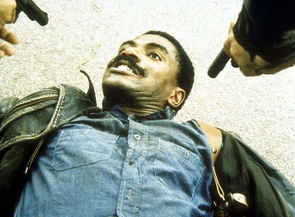 Petrie (Carl Lumbly) wird von zwei Streifenpolizisten verhaftet. - Bildquelle: ORION PICTURES CORPORATION. ALL RIGHTS RESERVED.