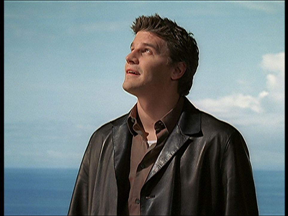 Nachdem Angel (David Boreanaz) den Dämon mit Landoks Schwert ausgeschaltet hat, genießt er sichtlich die Ruhe. - Bildquelle: TM +   2000 Twentieth Century Fox Film Corporation. All Rights Reserved.