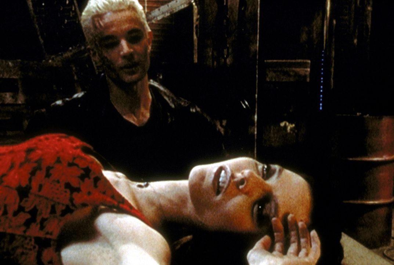 Drusilla (Juliet Landau) und Spike (James Marsters, hinten) hecken Pläne aus, wie sie Macht über die ganze Welt erlangen können. - Bildquelle: TM +   2000 Twentieth Century Fox Film Corporation. All Rights Reserved.