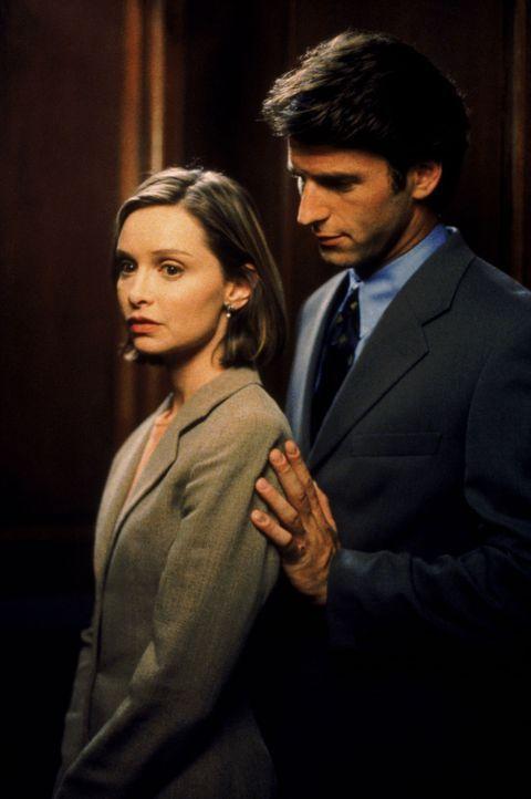 Das erste Date mit dem gutaussehenden Staatsanwalt Jason Roberts (Andrew Heckler, r.) hatte sich Ally McBeal (Calista Flockhart, l.) etwas anders vo... - Bildquelle: Twentieth Century Fox Film Corporation. All rights reserved.