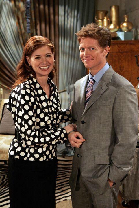 Als Tom (Eric Stoltz, r.) ein alter College Freund von Grace (Debra Messing, l.) bei ihr auftaucht, ist sie ziemlich verwirrt ... - Bildquelle: Chris Haston NBC Productions