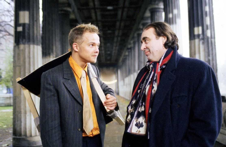 Ben (Matthias Koeberlin, l.) sucht Rat bei seinem alten Mentor, Professor Freund (Oliver Nägele, r.) an der Uni. Der macht ihm gnadenlos klar, dass... - Bildquelle: Sat.1/Degraa
