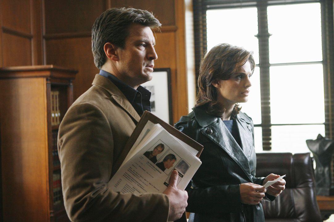 Der angesehene und erfolgreiche Staatsanwalt Jack Buckley wird ermordet aufgefunden. Castle (Nathan Fillion, l.) und Beckett (Stana Katic, r.) haben... - Bildquelle: ABC Studios