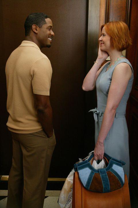 Der neue Nachbar, der hinreißende Arzt Dr. Robert Leeds (Blair Underwood, l.), bringt Mirandas (Cynthia Nixon, r.) Gefühle ins Wanken ... - Bildquelle: Paramount Pictures
