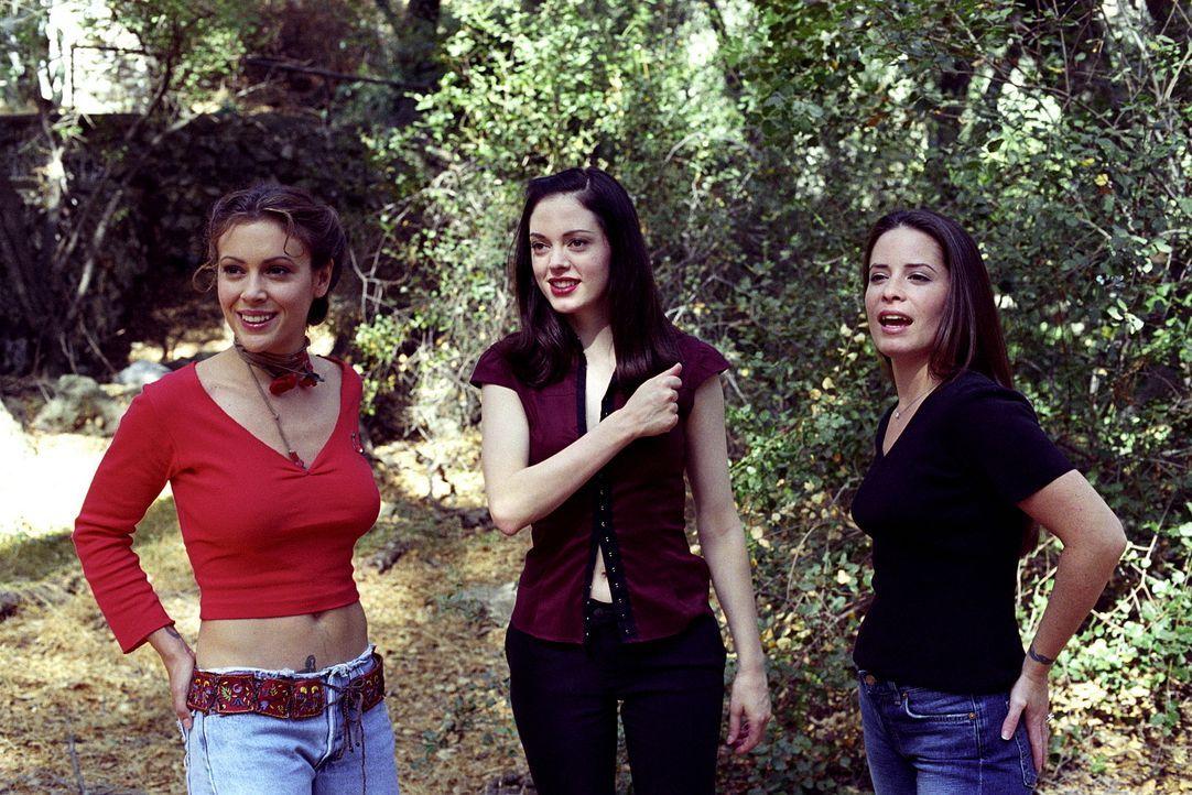 Nachdem es Sykes gelungen ist, drei weitere Hexen zu töten, stellen die Mächtigen Drei, Phoebe (Alyssa Milano, l.), Paige (Rose McGowan, M.) und Pip... - Bildquelle: Paramount Pictures