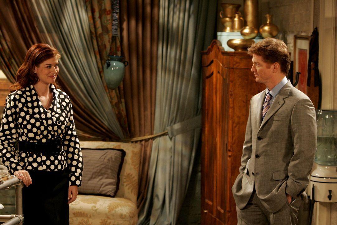 Tom (Eric Stoltz, r.), eine alte Flamme vom College, taucht bei Grace (Debra Messing, l.) auf und bittet sie ein Hotel umzugestalten, dass er gerade... - Bildquelle: Chris Haston NBC Productions
